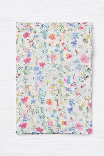 Sciarpa con fantasia floreale, Multicolor, hi-res