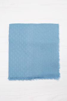 Scarf with fringed trim., Soft Blue, hi-res