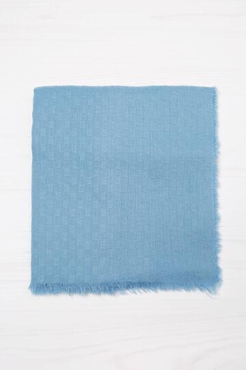 Scarf with fringed trim., Soft Blue, hi-res