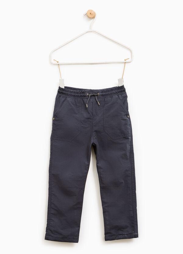 Pantaloni misto cotone con coulisse | OVS