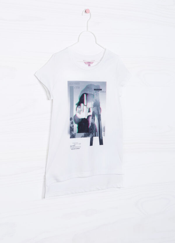 Printed T-shirt with round neck | OVS