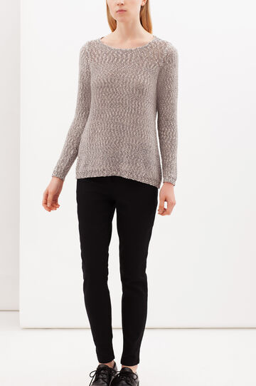 Pullover with boat neck, Blue, hi-res