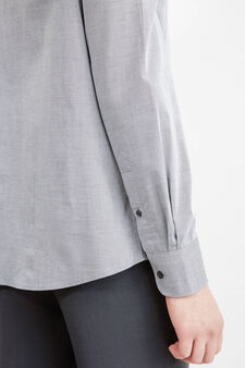 Solid colour, regular-fit formal shirt, Grey, hi-res