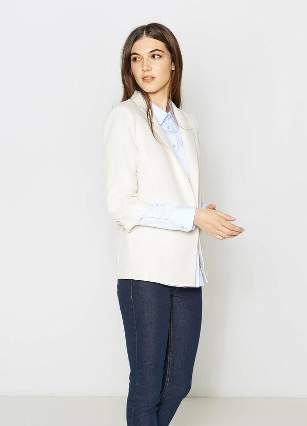 Blazer with three-quarter sleeves | OVS