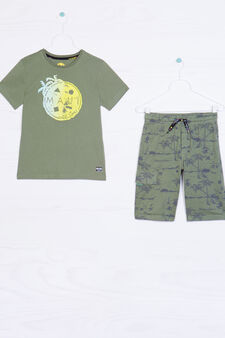 Shorts outfit by Maui and Sons, Green, hi-res