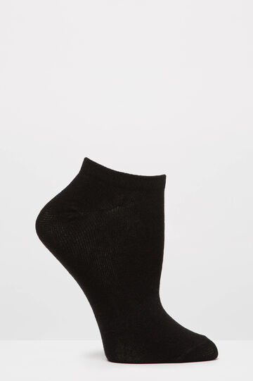 Two-pair pack solid colour stretch socks, Black, hi-res