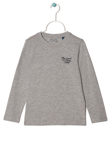Printed jersey T-shirt, Grey Marl, hi-res
