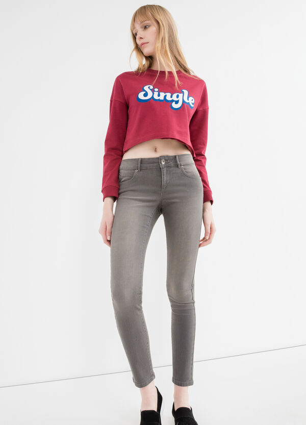 Skinny-fit, faded-effect jeans | OVS