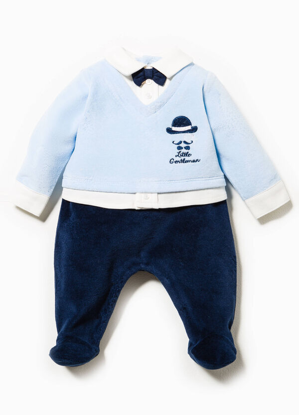 Onesie with faux layer and bow tie | OVS