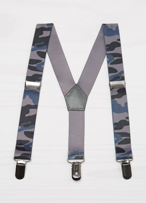 Bretelle stretch fantasia camouflage | OVS