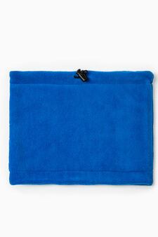 Solid colour drawstring neck warmer, Azure, hi-res