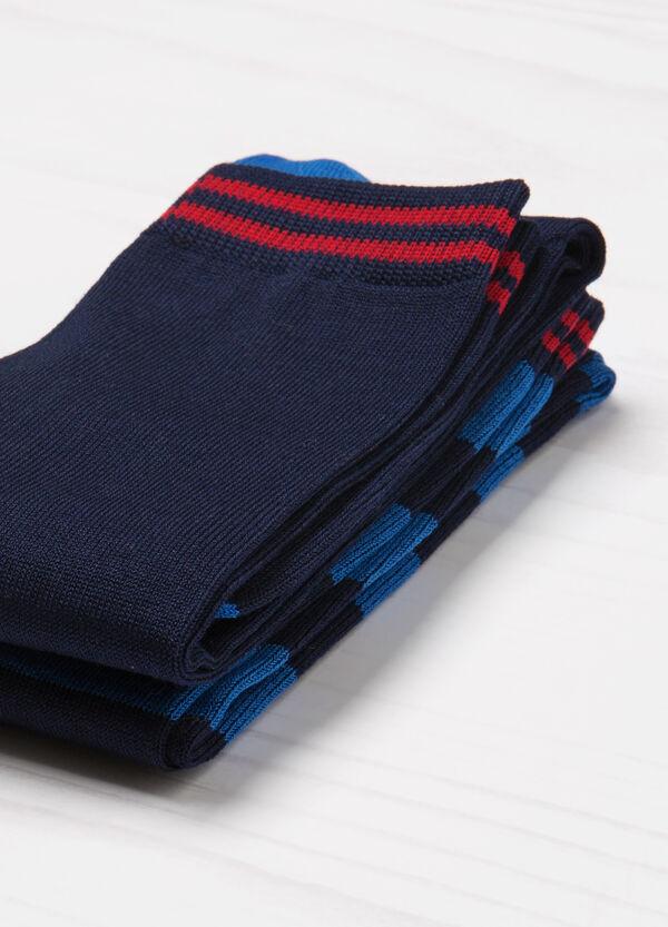 Set due paia di calze stretch fantasia | OVS