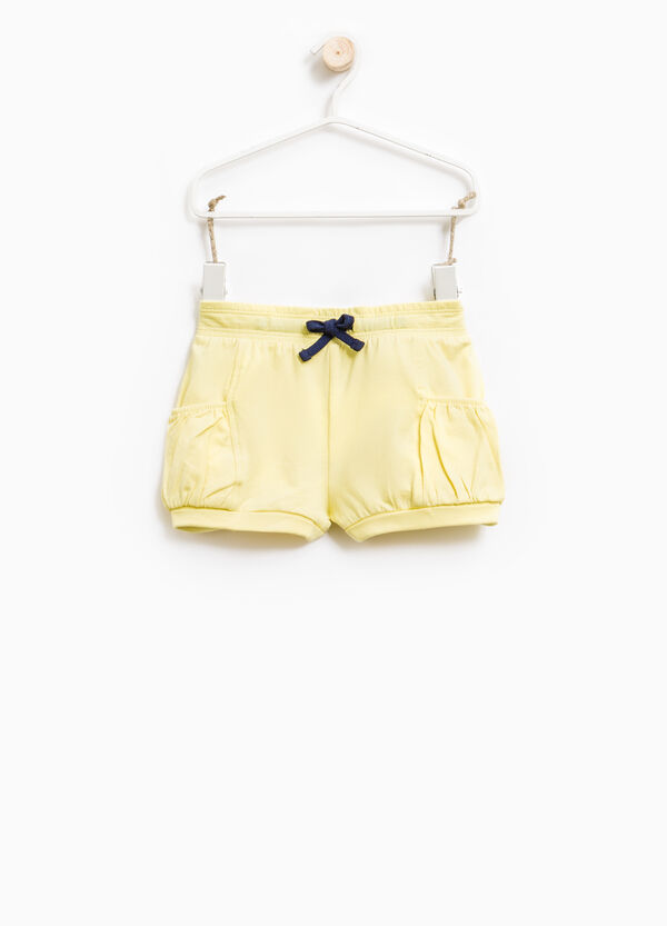 Stretch cotton shorts with drawstring | OVS
