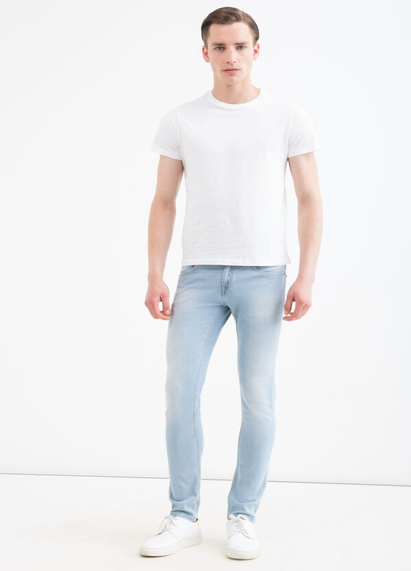 Jeans slim fit stretch delavé | OVS