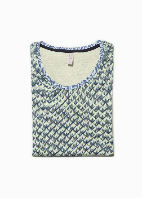 Patterned pyjama top in cotton | OVS