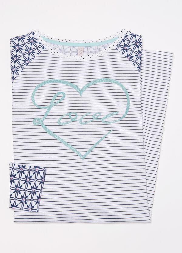 Cotton nightshirt with glitter | OVS