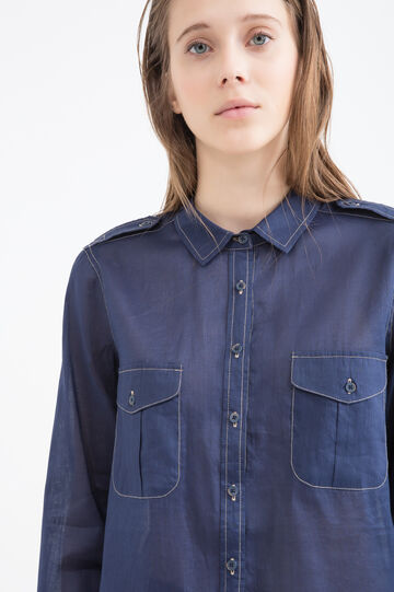 Linen blend shirt with pockets