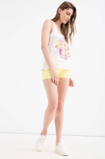 Cotton blend top by Maui and Sons, White, hi-res