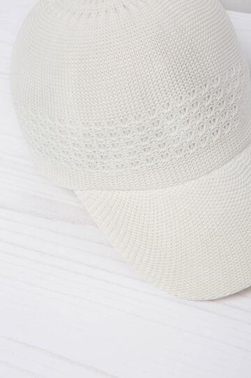 Cappello da baseball tricot, Bianco panna, hi-res