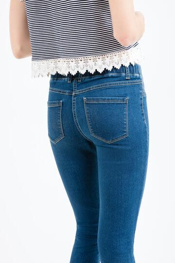 Jeggings stretch vita elasticata, Blu, hi-res