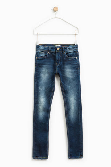 Slim-fit stretch jeans, Blue, hi-res