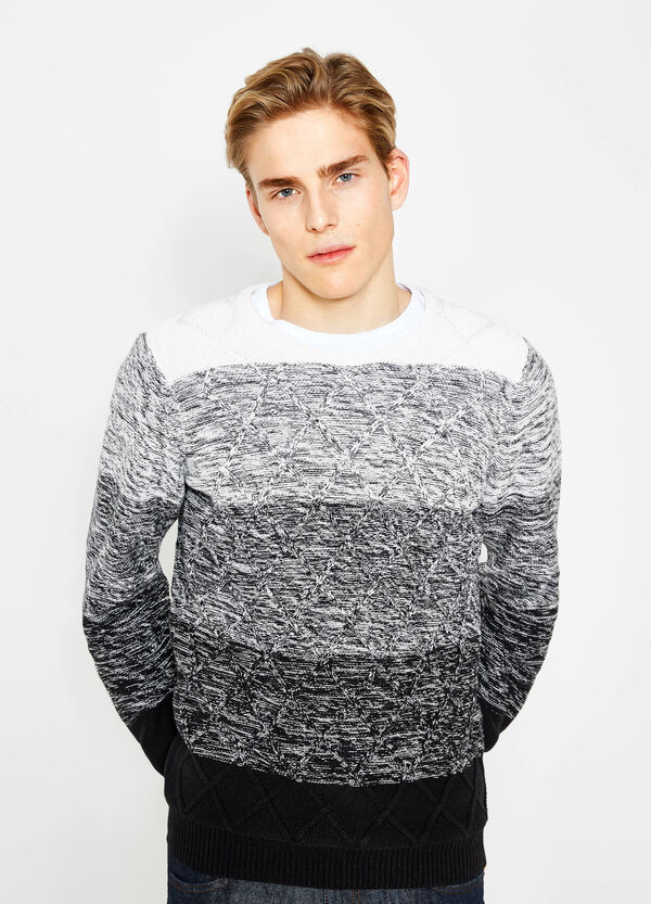 Striped knitted pullover in 100% cotton | OVS