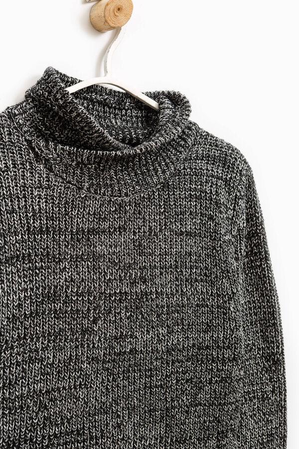 Cotton blend high neck pullover   OVS