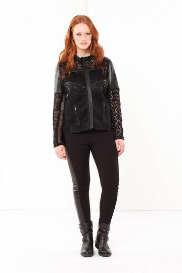 Curvyglam imitation leather jacket, Black, hi-res