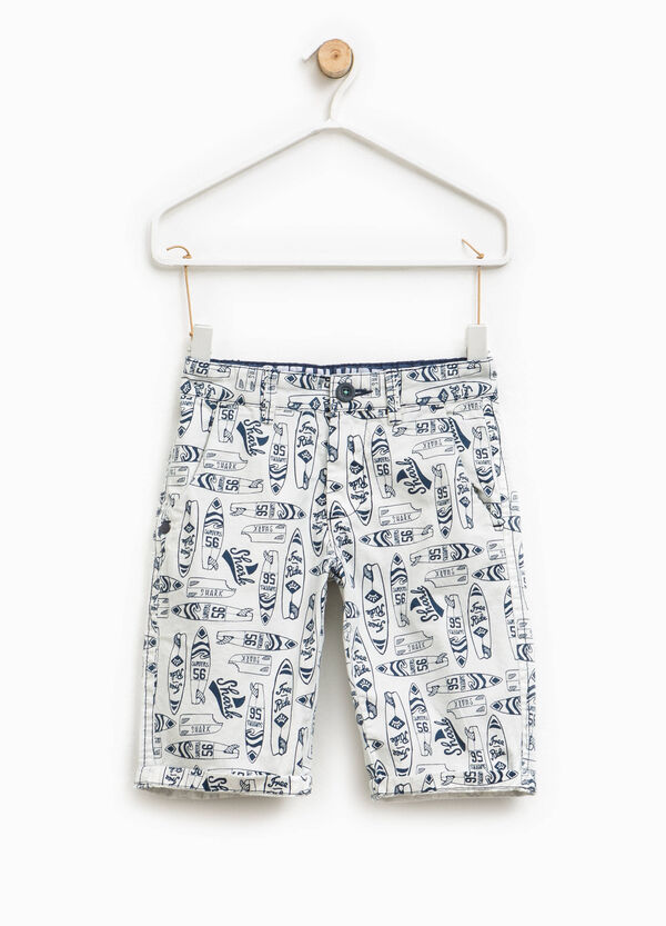 Patterned Bermuda shorts with turn ups   OVS
