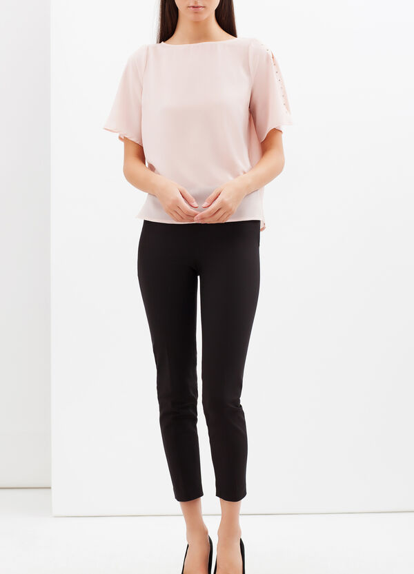 Crepe blouse with small studs | OVS