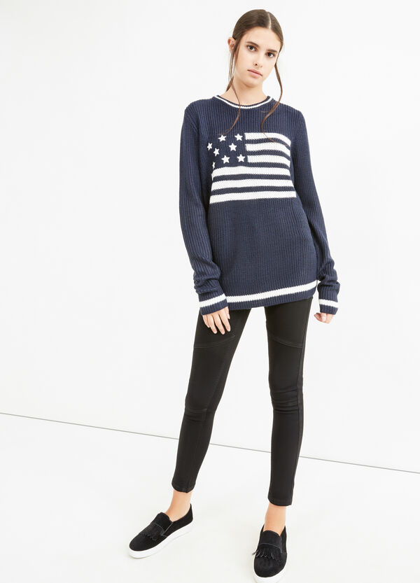 Embroidered knitted pullover   OVS