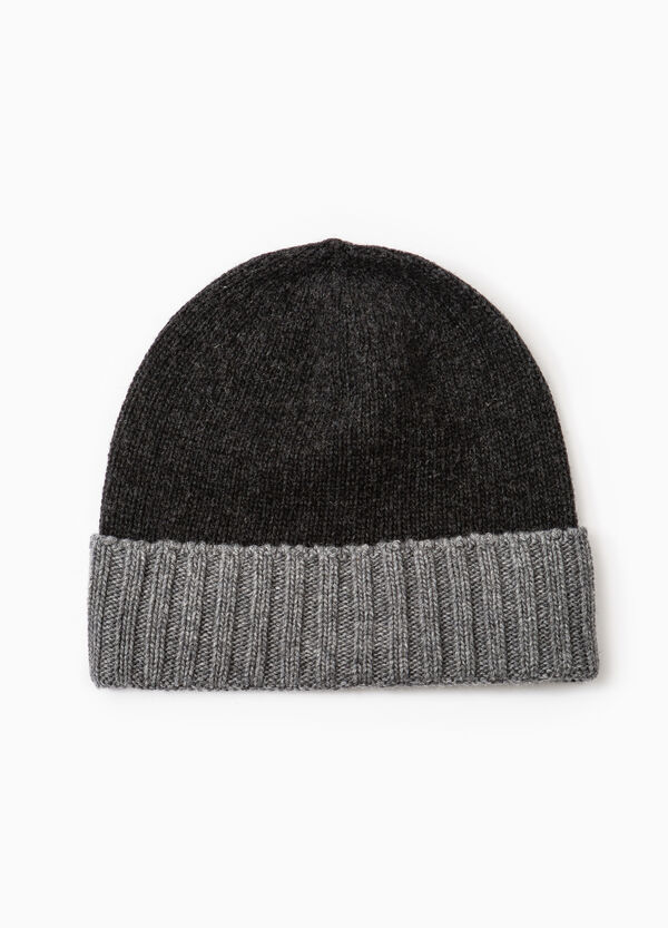 Viscose beanie cap with turn-up | OVS