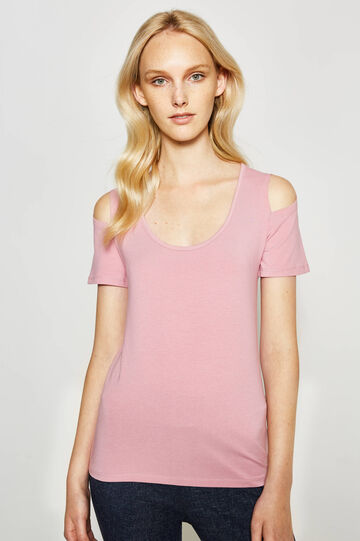 T-shirt with openings on the shoulders
