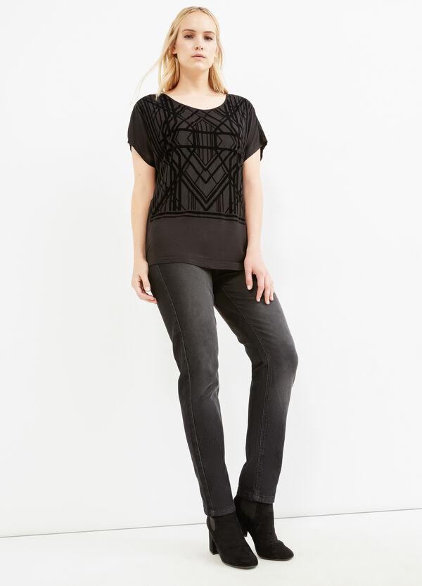 T-shirt stampa geometrica Curvy | OVS