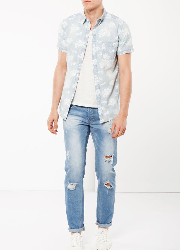Camicia chambray stampata   OVS