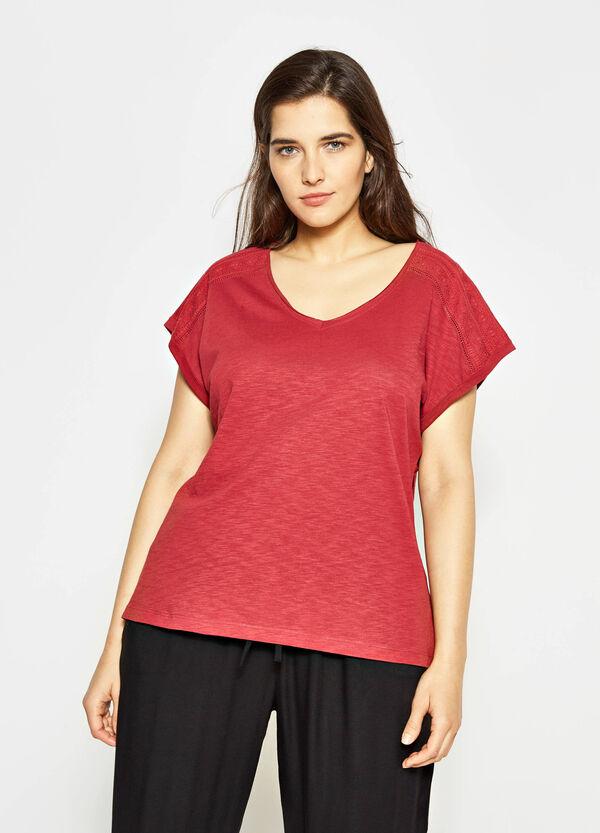 T-shirt in slub di cotone Curvy | OVS