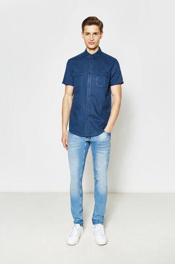 Camicia casual slim fit in lino