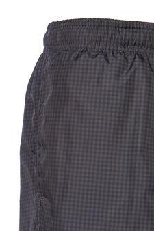 Swim boxer shorts with micro check, Light Grey, hi-res
