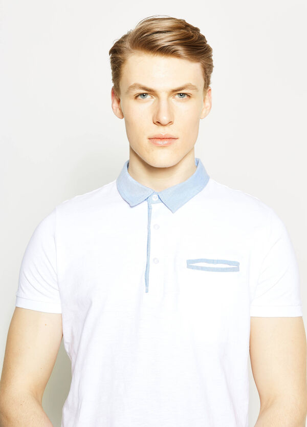 Polo shirt with contrasting inserts   OVS