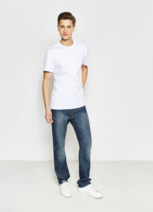 Regular fit jeans with discolouring | OVS
