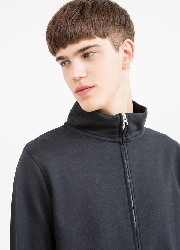 Cotton blend high neck sweatshirt. | OVS