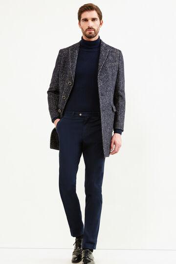 Abrigo Rumford jaspeado en lana elástica, Azul, hi-res