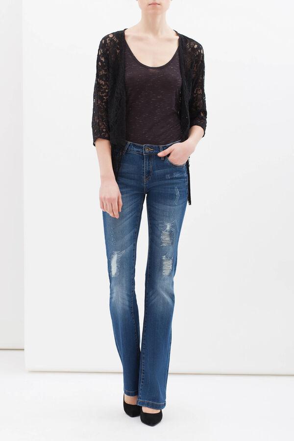 Lace shrug with fringe | OVS