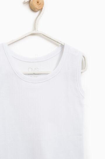 100% cotton undervest, White, hi-res