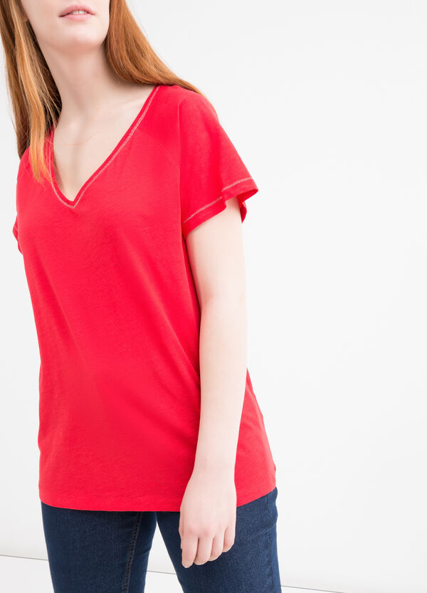 T-shirt puro cotone tinta unita Curvy | OVS
