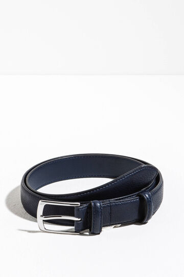 Belt with two loops, Navy Blue, hi-res