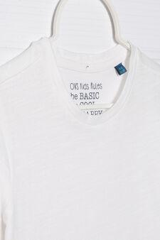 Solid colour 100% cotton T-shirt, White, hi-res