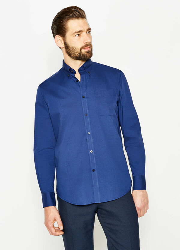 Regular-fit formal shirt in cotton blend | OVS