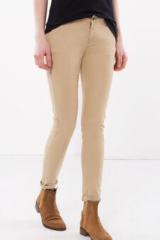 Pantaloni tinta unita, Marrone chiaro, hi-res
