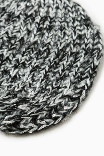 Sequinned beanie cap, Black/Grey, hi-res
